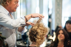 Ronnie Stamm demonstrates styling techniques