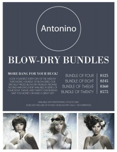 Series of blow-dry's are now available at Antonino Salon.