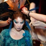 Stylists from Antonino Salon in Birmingham demonstrate innovative styling techniques on stage.