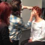 Back stage model prep at the Antonino Salon and Primary Syn Photo Shoot-2014